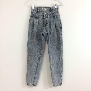 Lee Vintage High Waisted Pleated Mom Jeans Crop